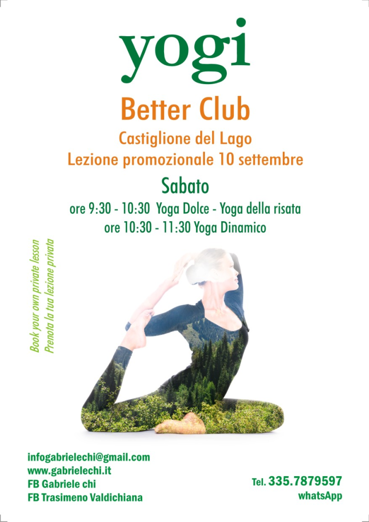 Yoga Castiglione del lago settembre