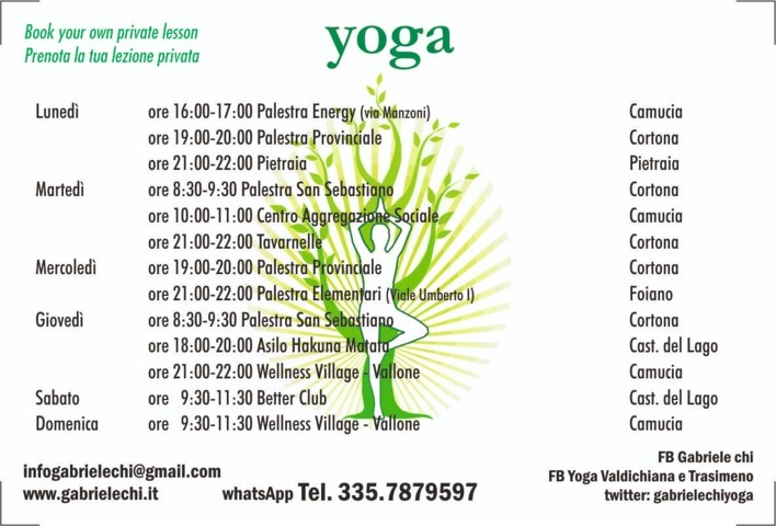 yoga castiglione del lago camucia cortona foiano pietraia
