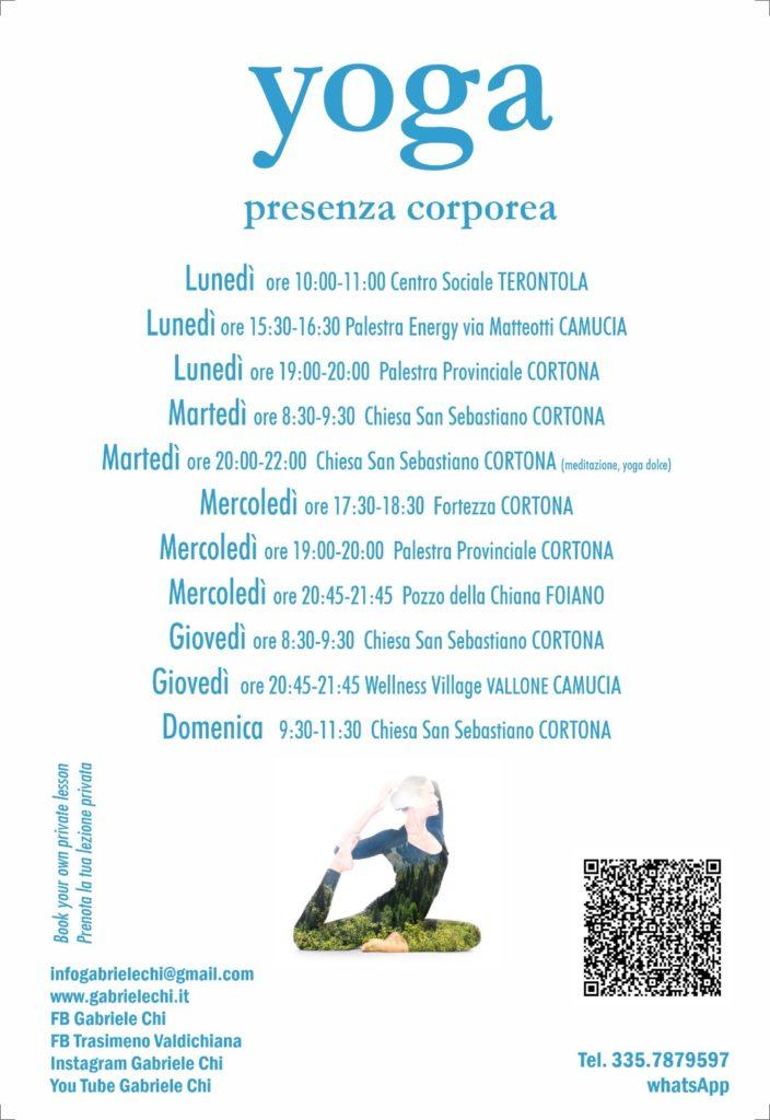 Lezioni yoga 2020 | Cortona - Camucia - Foiano - Castiglione del Lago